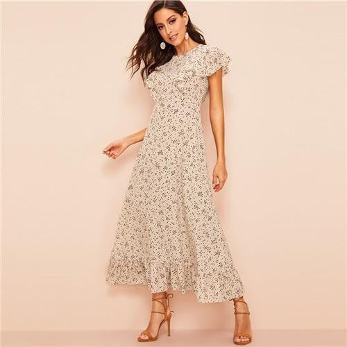 ELEGANTLY FAB Floral  Boho Maxi Dress - OutFancy
