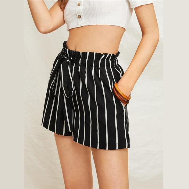 SEE ME NOW Striped Shorts - OutFancy