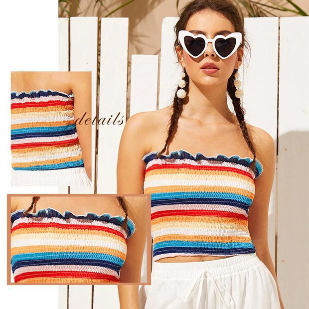 YOU WISH YOU COULD Striped Tube Top - OutFancy