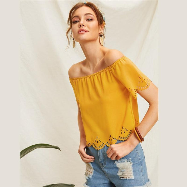 IN YOUR SPACE Off Shoulder Tee - OutFancy