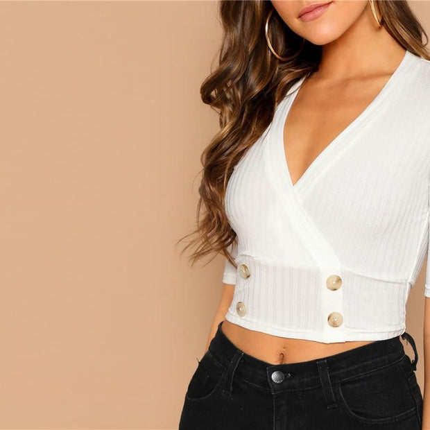 IN YOUR SPACE Ribbed Knit Top - OutFancy