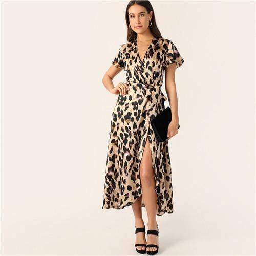 WILD BABY  Leopard Boho Dress - OutFancy