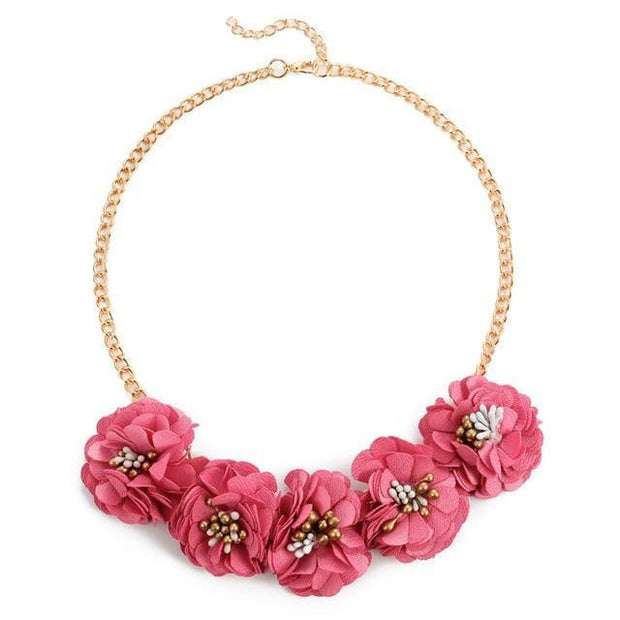 SIMPLY STUNNING Flower Statement Necklaces & Pendants - OutFancy