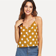 ROMANTIC MOOD Ginger Polka Dot  Cami Top - OutFancy