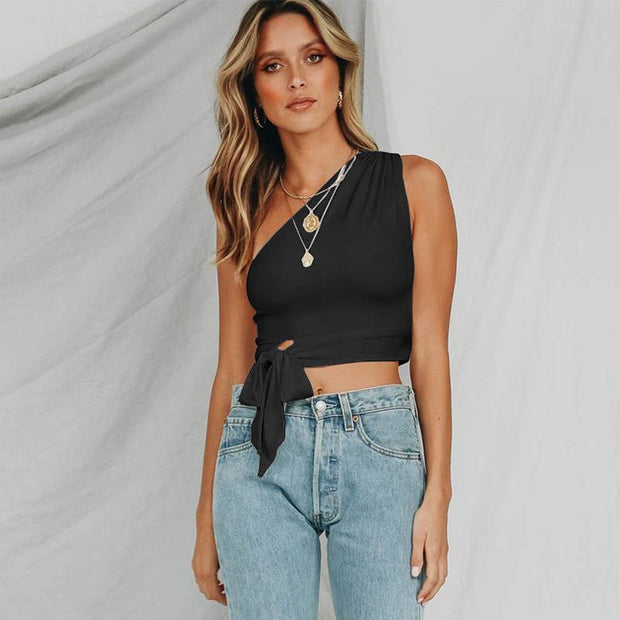 BLOW ME A KISS One Shoulder Top - OutFancy