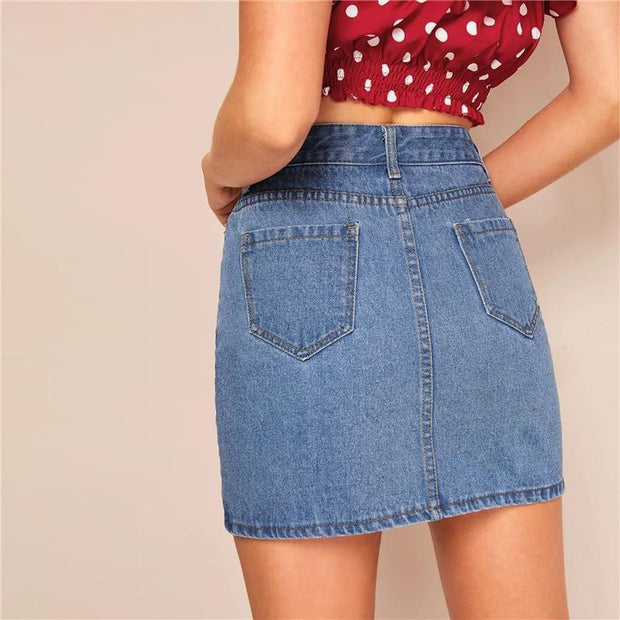 NOT YOUR CHICK Denim Skirt - OutFancy