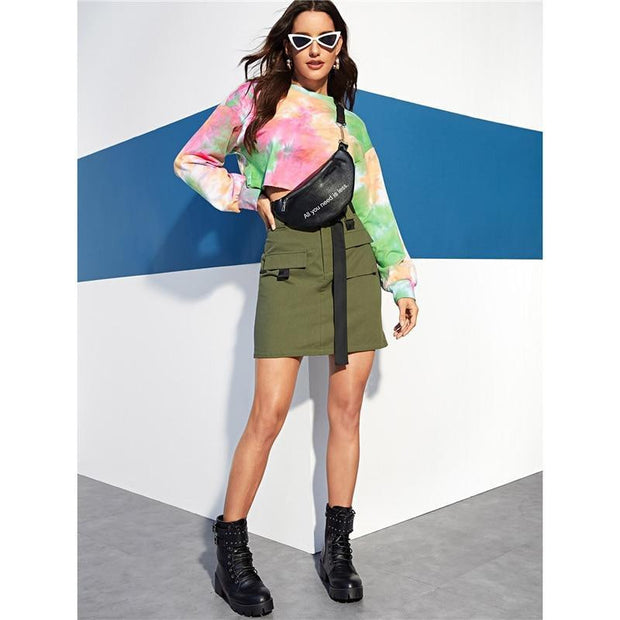 MAKE IT LAST Army Green Skirt - OutFancy
