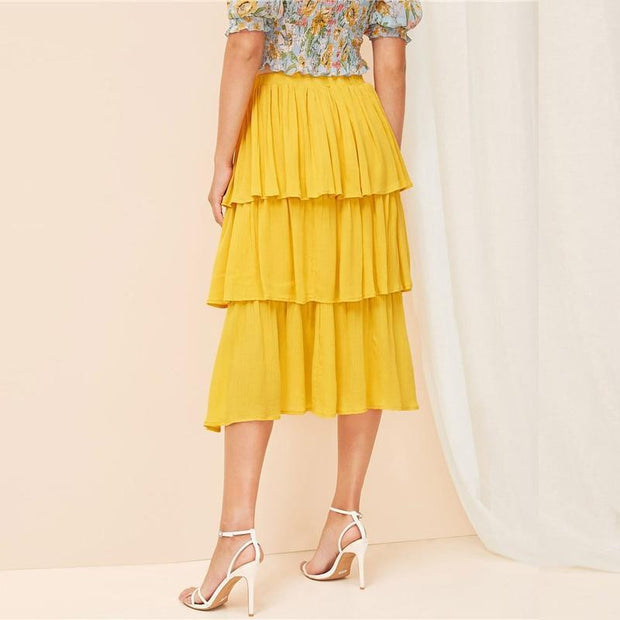 LETS KEEP THINGS CASUAL Layer Skirt - OutFancy