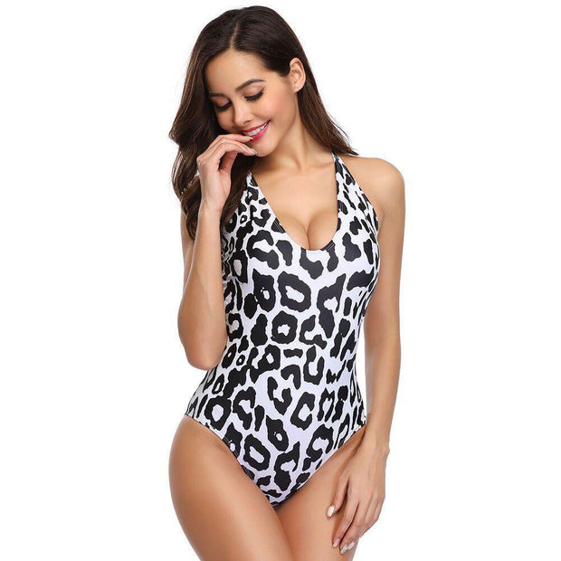 TOES IN THE WATER Leopard Print Swimsuit - OutFancy