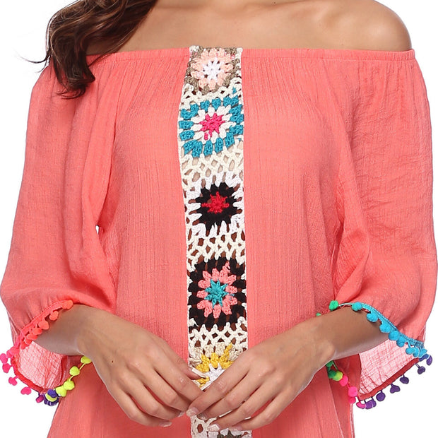 BALI SUNSET OFF Shoulder COVER UP - OutFancy