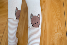 Women's Leggings: Casual Cat Cotton Leg Warmer with Cute Cat Design