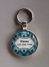 Turquoise Multi Tag ES1003   - Standard Pet Tag - Cute for Large Dogs like Labs, Pitt Bulls, and Golden Retreivers!!
