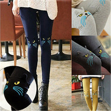 Cute Cat Printed Leggings: Women's Cotton Leggings in  5 Colors