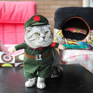 Awesome Pet Costumes: Dog or Cat Costume Cat Clothes - Nurse Policeman Cowboy Sailor Uniform - Cool!