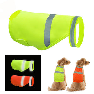 Reflective Dog Safety Vest: Fluorescent High Visibility Dog Vest with Waterproof Lining - Luminous Pet Clothing for Small Medium & Large Dogs