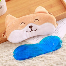 Cute Corgi Dog Eye Mask:  Plush Soft Kawaii Corgi Dog Sleeping Mask- Great for Flight or Sleeping at Home