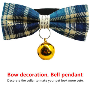 Personalized Cat Collar With Engraved ID Tag & Bell