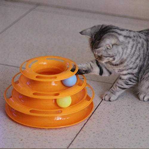 Cat's Triple Ring Ball Toy (Plus FREE Gift!)