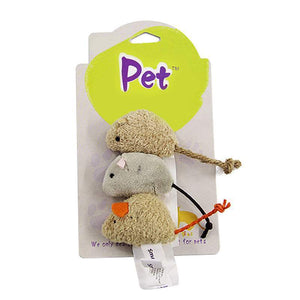 3pc Stuffed Mouse Toy