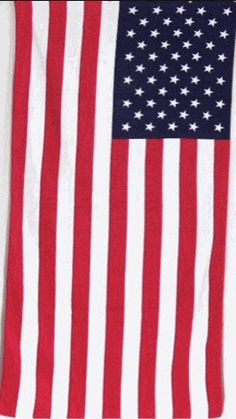 TW-040 American Flag Beach Towel 30x60