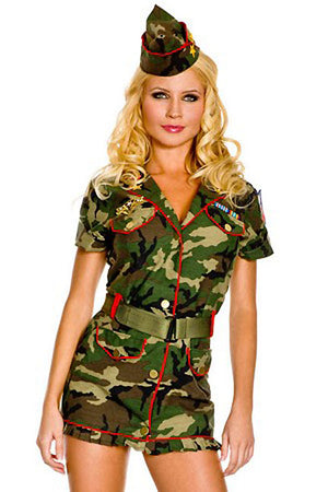 Military Cadet camouflage costume dress 3-piece Set 70261
