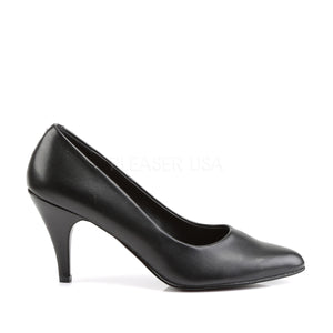 side view of Classic black pump shoes with 3-inch spike heels Pump-420