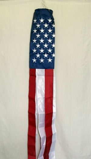 American Flag Embroidered Windsock