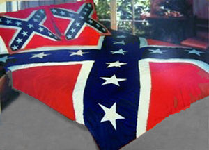 RF-2010 Rebel Confederate Flag Comforter Quilt Set with Pillow Shams