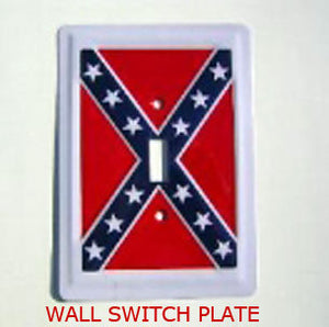 RF-2077 Rebel Confederate Flag Wall Switch Plate