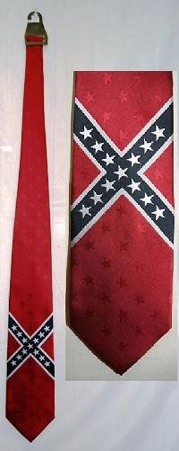 Rebel Confederate flag neck tie 23458
