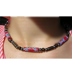 RF-23467 Rebel Confederate Flag Necklace