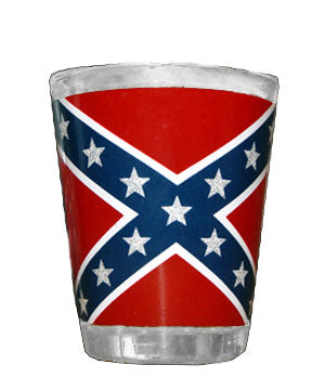 Rebel Confederate Flag Shot Glass, Set of TWO
