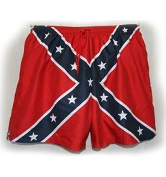 RF-61867 Rebel Confederate Flag Men's Swim Trunks