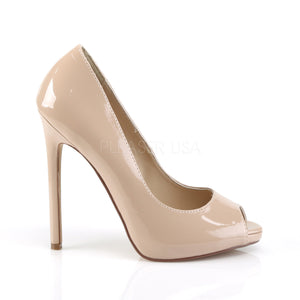 side of nude Platform peep toe pump shoes with 5-inch heels Sexy-42