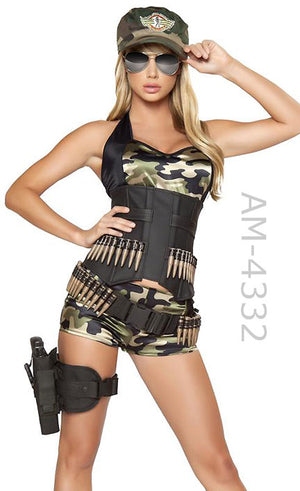 4332 Army Babe 5-pc camouflage costume
