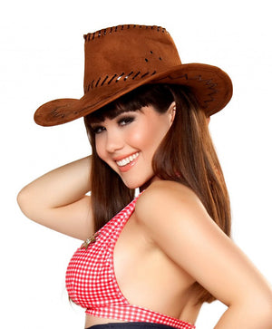 Pinup Sheriff deluxe country western cowgirl costume hat H4361