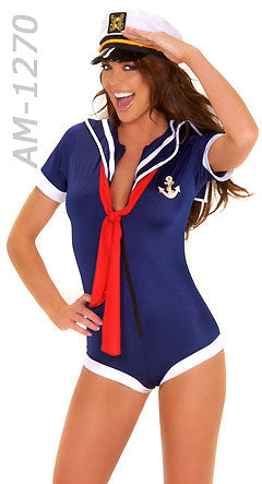 American Sailor Girl 3-pc. Romper Set