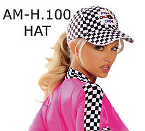 Racing Girl Checkered Flag Costume Hat