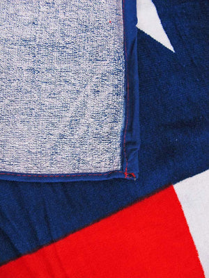 back of Texas Flag Beach Towel 034