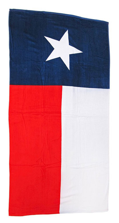 Texas Flag Beach Towel 30x60
