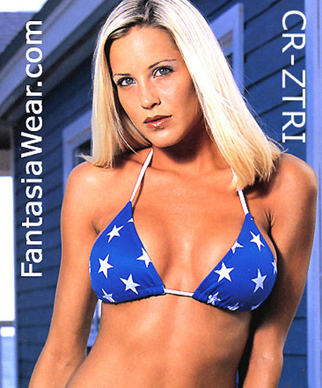 Triangle Bikini Top in Gold, Silver or American Flag Stars