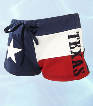 Texas state flag booty shorts BF3TX