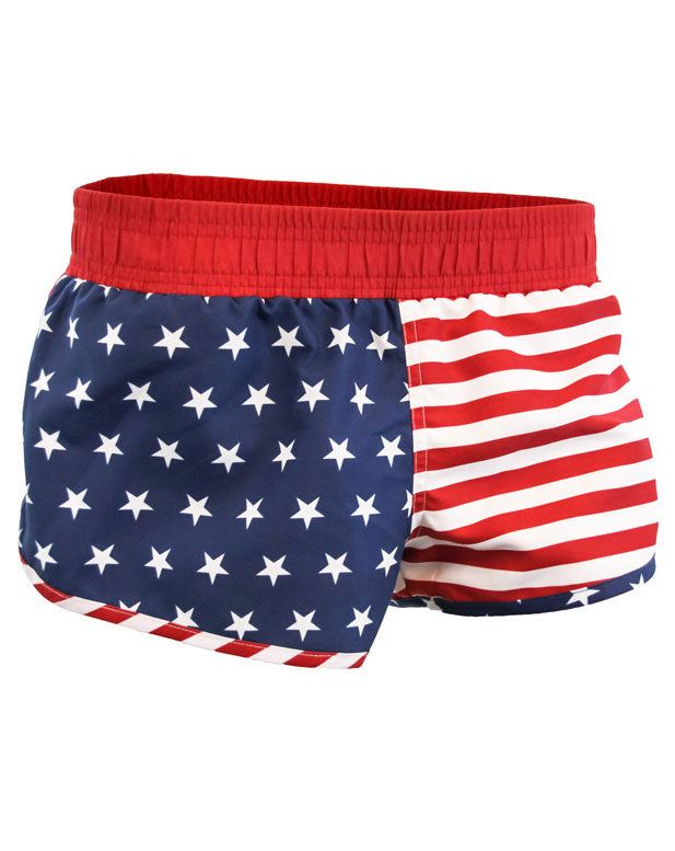 USA American Flag Booty Shorts