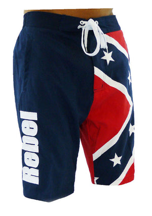 CS-MBXFF Rebel Confederate Flag Boardshorts Swim Trunks