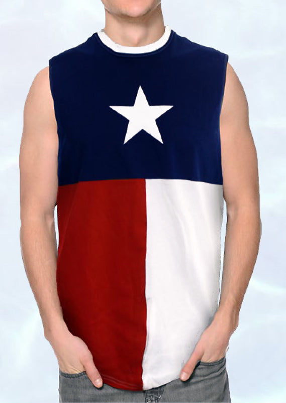 CS-NS3TX Texas Flag Sleeveless Shirt