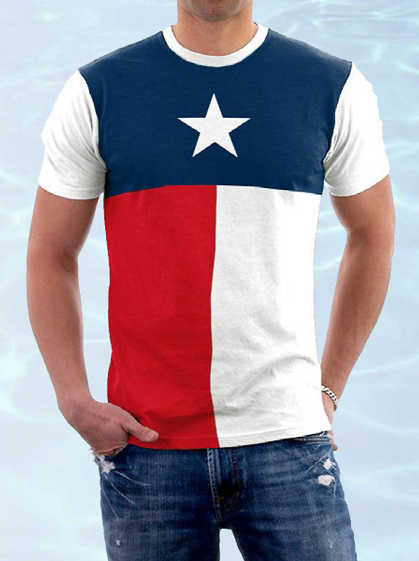 CS-PRBTEX Men's Texas Flag T-shirt