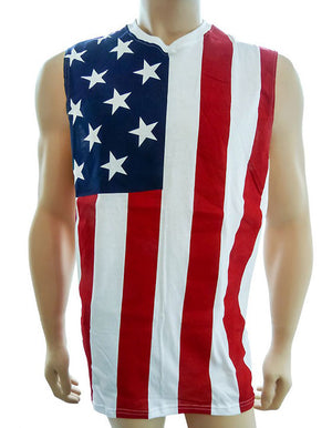 CS-NS3USA American Flag Sleeveless Shirt