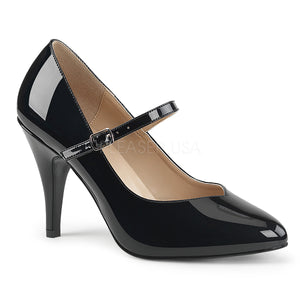 black Mary Jane pump shoes with 4-inch spike heel Dream-428