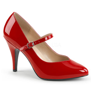 red Mary Jane pump shoes with 4-inch spike heel Dream-428