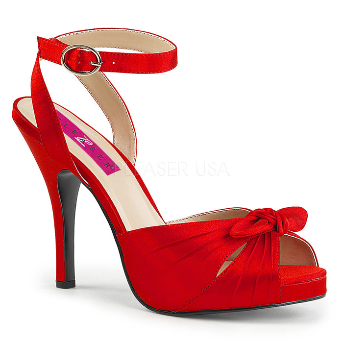 Platform Wrap Around Sandal with Bow and 5-inch Heel 3-colors